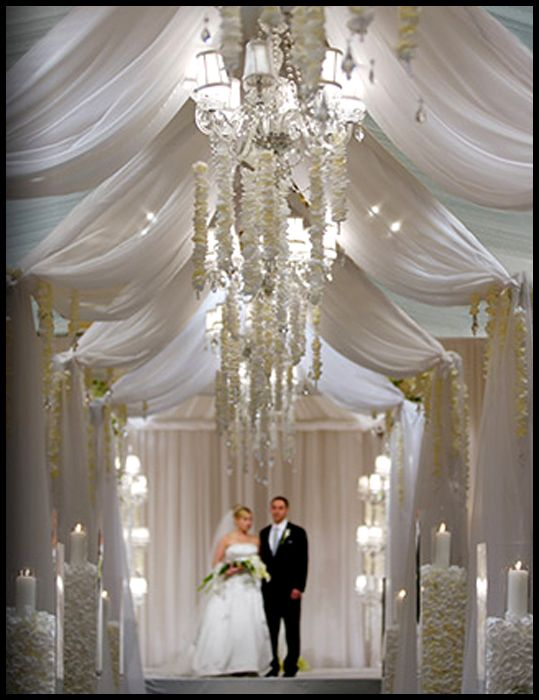 Soft White Fabric Billowing From The Ceiling A David Tutera Creation