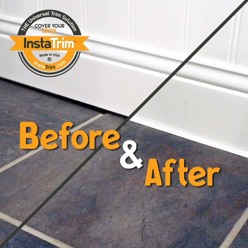 Seal Baseboards To Keep Out Dirt And Pests Using Instatrim Instead Of Caulk Baseboards Caulk Strips Caulk