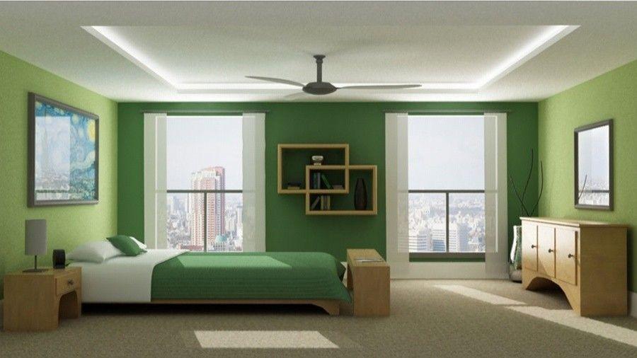 Arredare con il verde - Camera da letto con pareti verde   Cameras