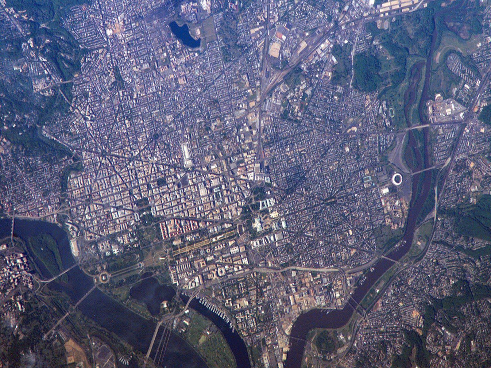 Washington From International Space Station Space Pinterest - Washington dc map conspiracy