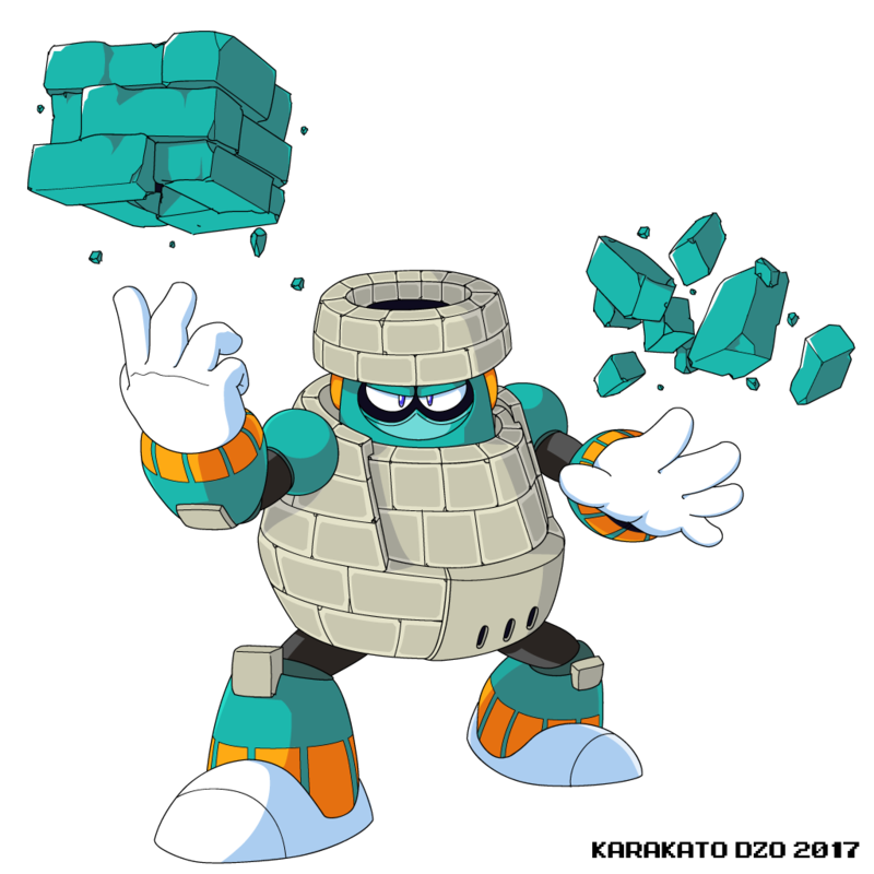 Brick Man Mega Man 11 By Karakatodzo Mega Man Art Mega Man Man Character