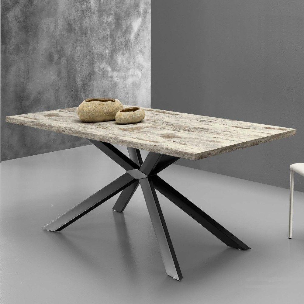 Eurosedia - Tavolo Mikado allungabile in legno laminato vintage ...