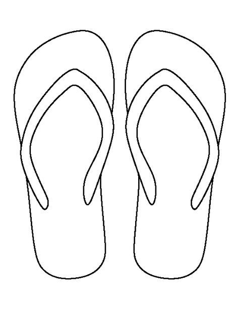 Geeky image intended for printable flip flop template