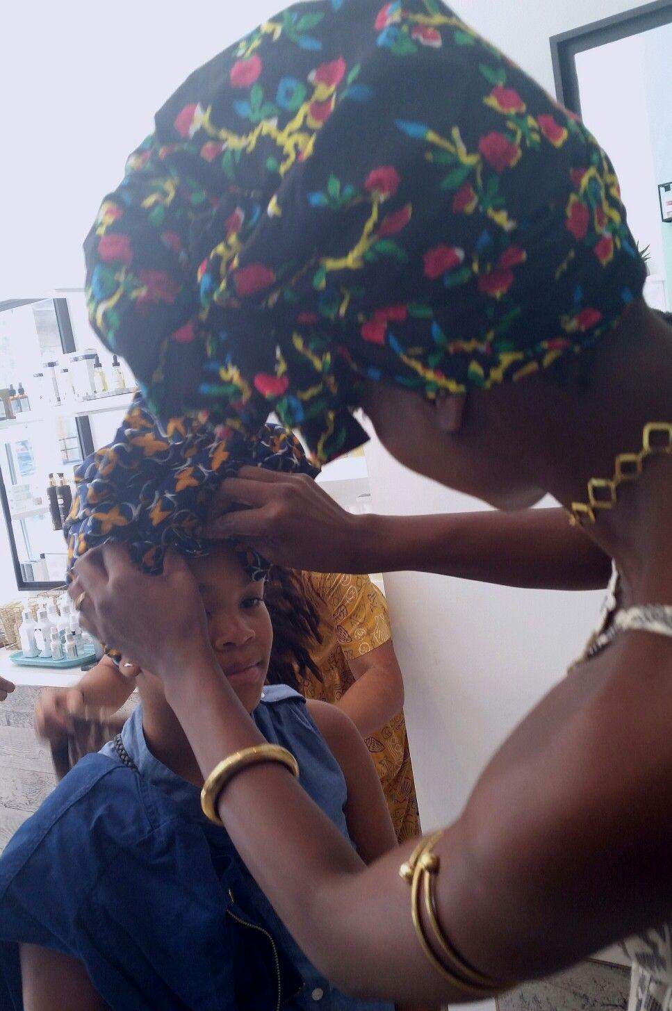 At FanmDjanm popup at Vivrant Beauty in Harlem ! #girlsheadwrap