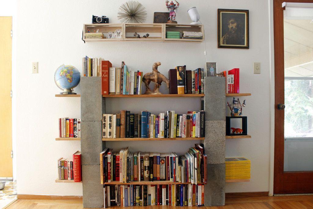 Cinder Block Bookshelf Cinder Block Shelves Cinder Block Bed