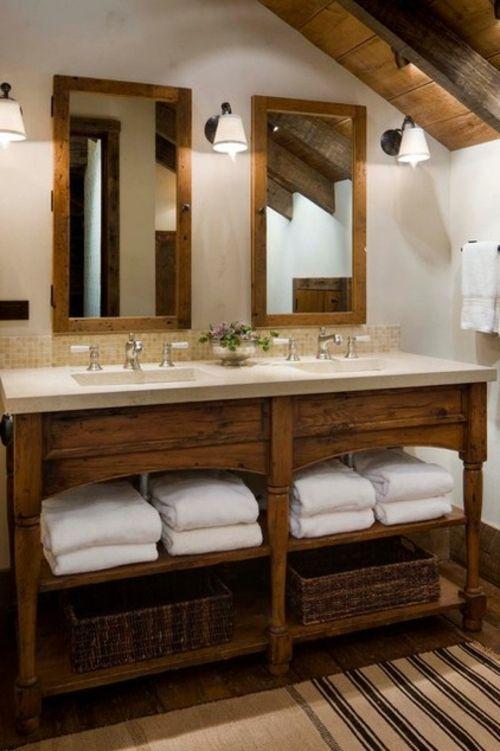 Landhausstil zu Hause populär einrichtungsideen badezimmer spiegel ...