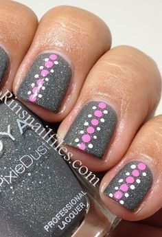 Gray Nail Polish Designs
