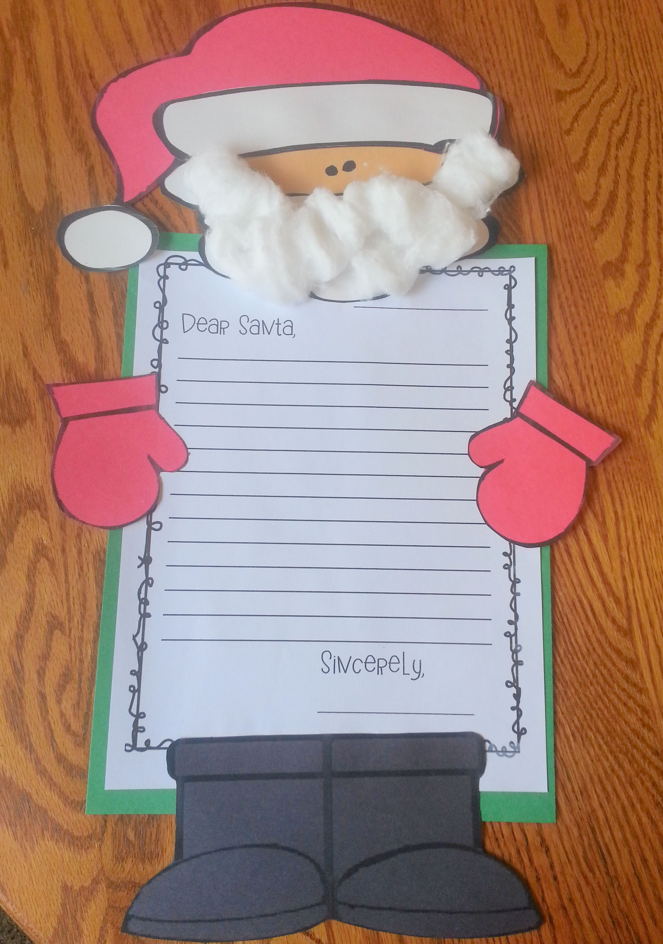 Santa Letter Writing Activity