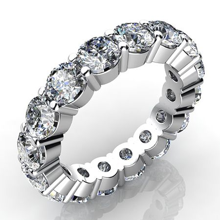 2.5 Carat Round Cut Diamond Eternity Band SI H