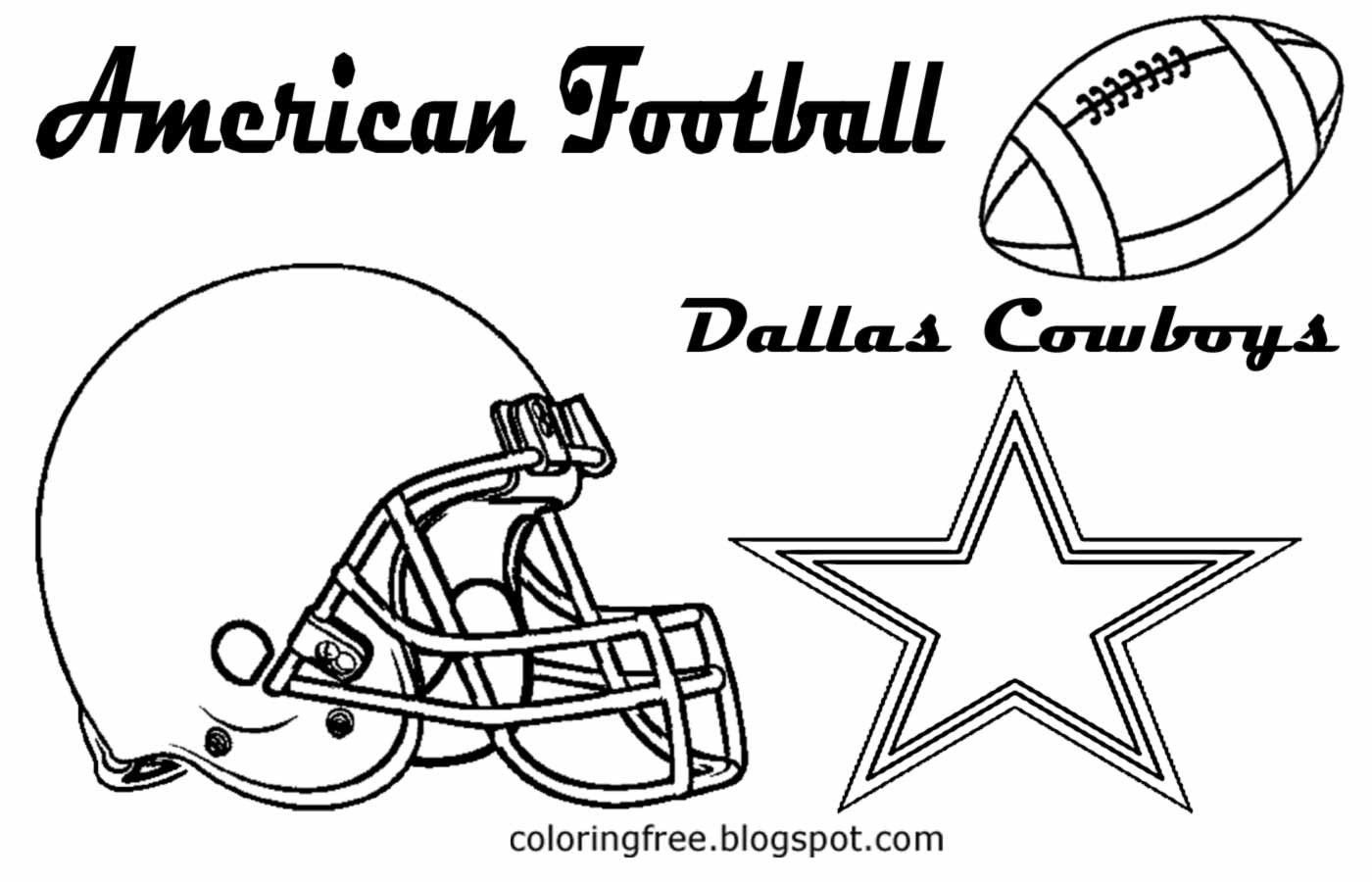 Printable American Football Coloring Coloring Pages To Print Dallas Cowboys Free Coloring Pages