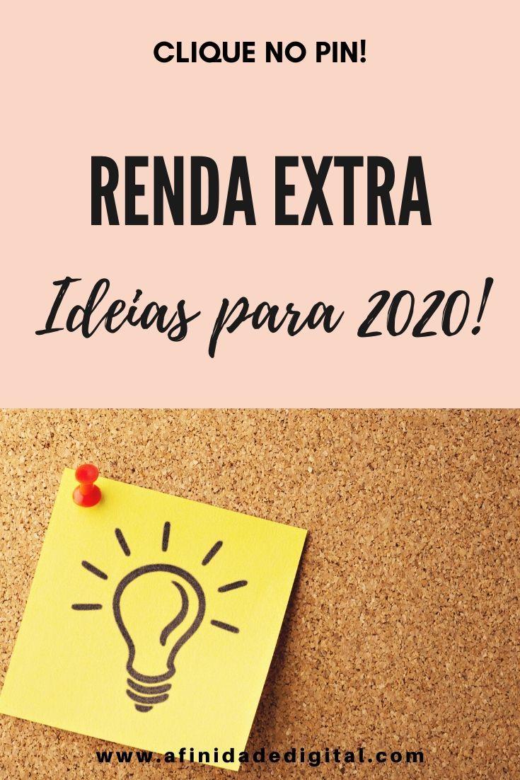 Renda Extra Ideias para 2020!