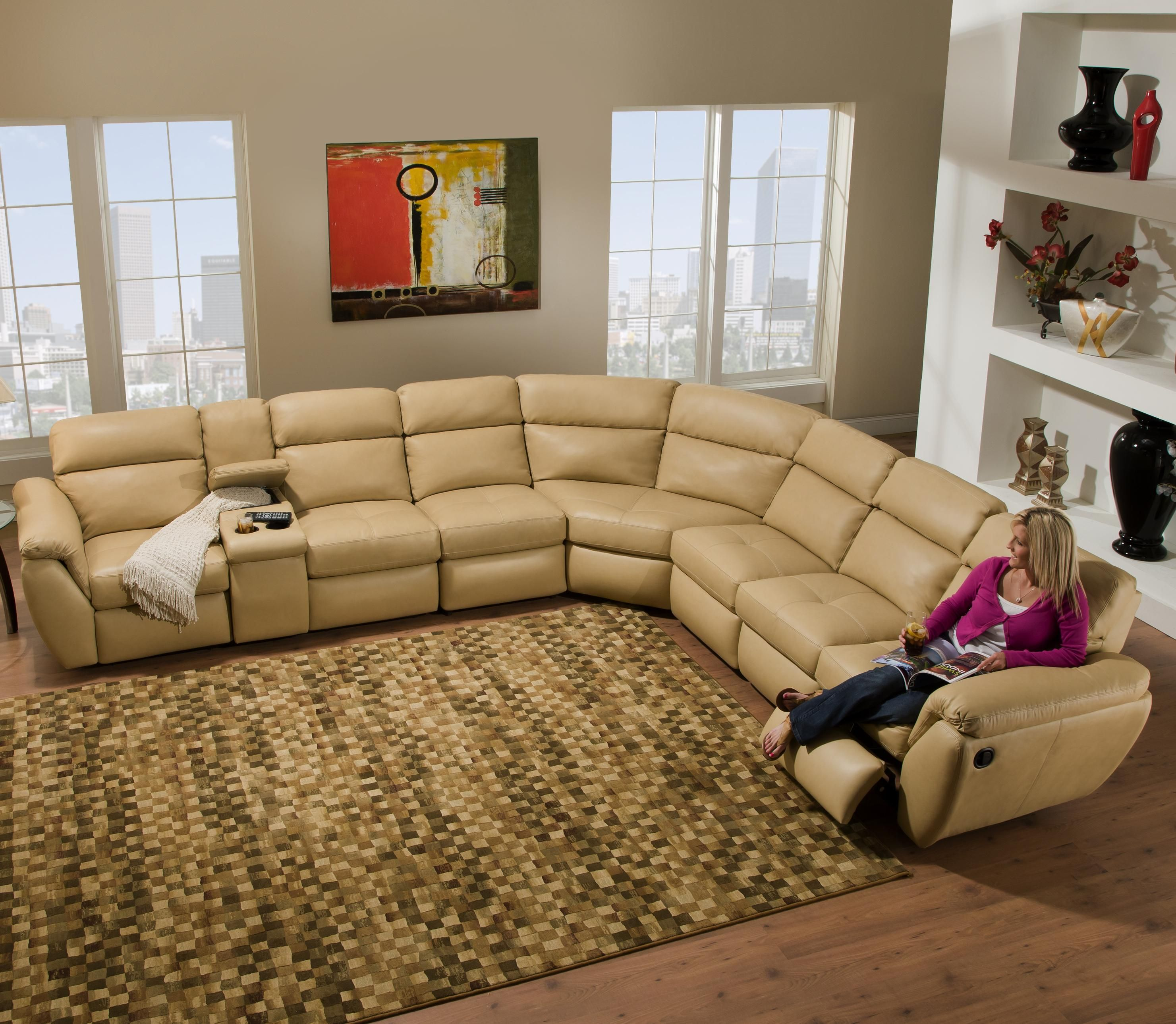 Deco Reclining Sectional Sofa By Southern Motion Dream Home Leather Reclining Sectional Leather Reclining Sofa Reclining Sectional