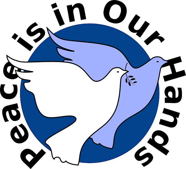 Africa South Symbol Cartoon Peace Love Dove Help Public