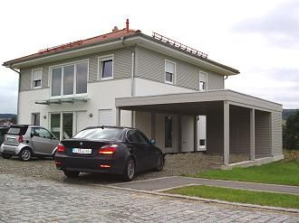 doppelcarport an einem haacke fertighaus stadtvilla in bayreuth haus pinterest bayreuth. Black Bedroom Furniture Sets. Home Design Ideas