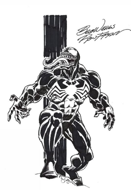 Ron Frenz venom Comic Art | VENOM | Pinterest | Enemigos y Dibujo