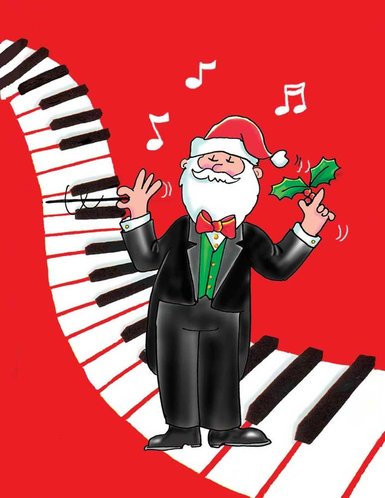 Buy santa jubiliet conductor christmas cards music stationery buy santa jubiliet conductor christmas cards music stationery greeting cards christmas cards m4hsunfo