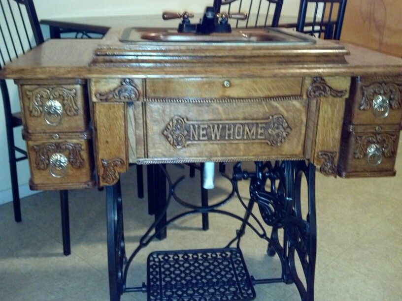 Antique Treadle Sewing Machine We Made Into A Working