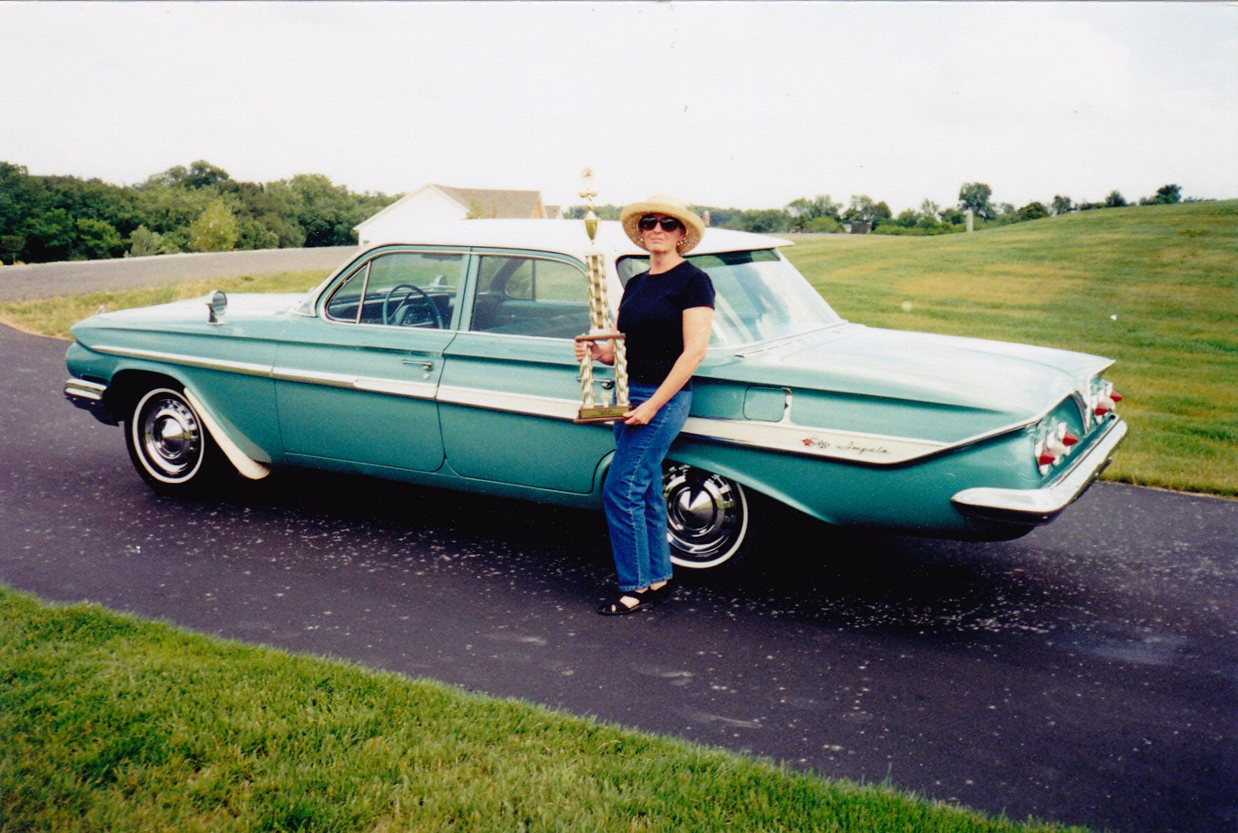 Miss my beautiful 1961 Chevy. Won second place with her.