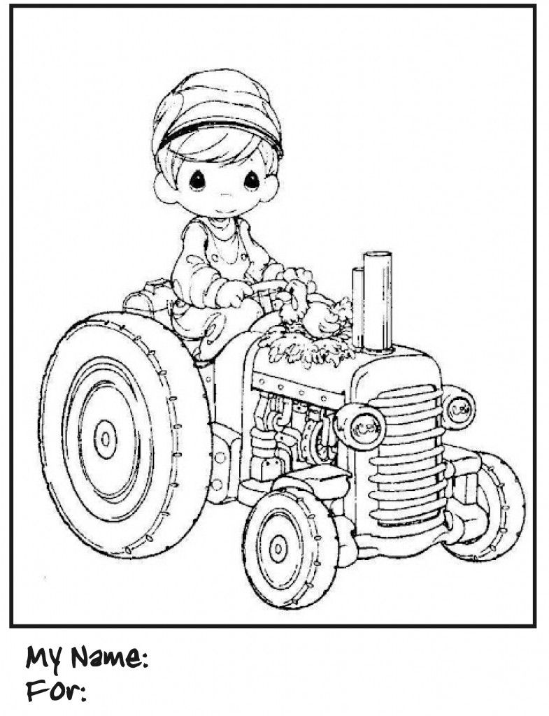 Boys Coloring Pages Precious Moments Tractor | Coloring pages ...