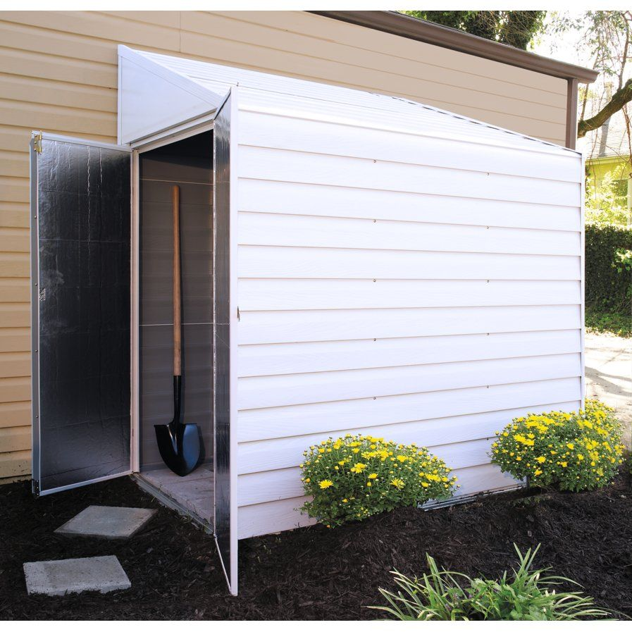 yardsaver 4 ft 1 in w x 6 ft 8 in d metal lean to storage shed