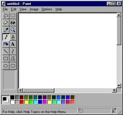 Transparent Edit And Overlay Image Microsoft Paint Paint Program Old Computers