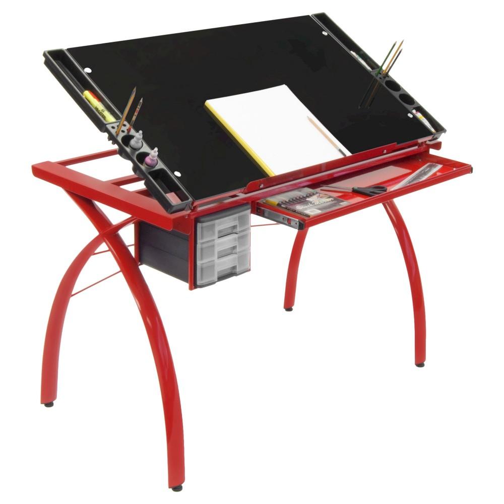 Futura Craft Station  Red/Black Glass
