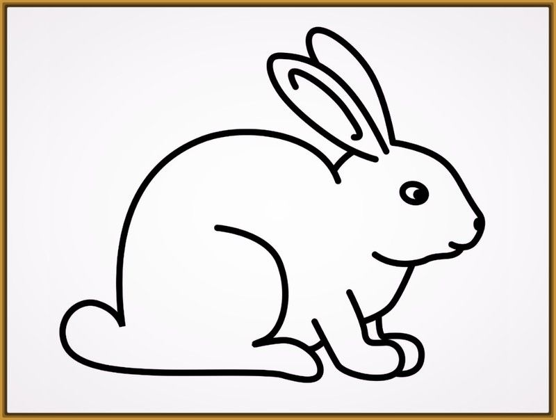 Dibujos para pintar conejos de pascua | Conejos | Conejos, Dibujo de ...