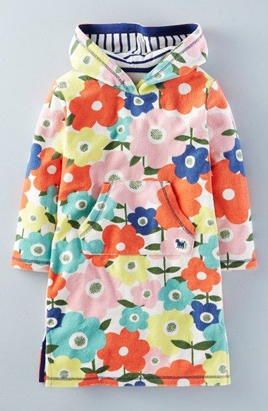 9cfdc40f55 Free shipping and returns on Mini Boden  Towelling  Hooded Beach Dress  (Toddler Girls