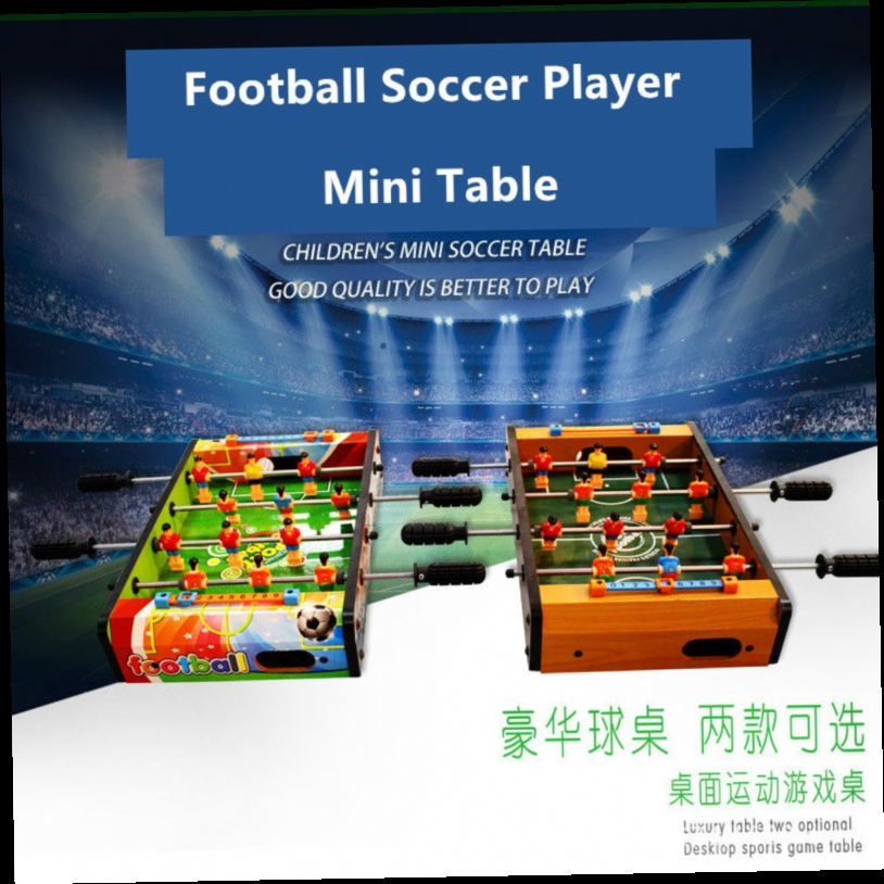 49.00$  Watch now - http://ali7uf.worldwells.pw/go.php?t=32617185189 - Wooden Mini  Soccer Table Football Sport playing Player toys