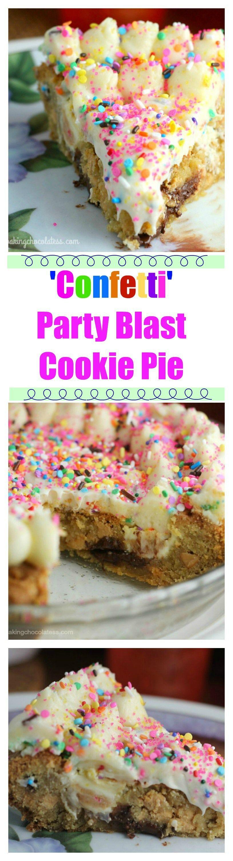 'Confetti' Party Blast Cookie Pie via @https://www.pinterest.com/BaknChocolaTess/