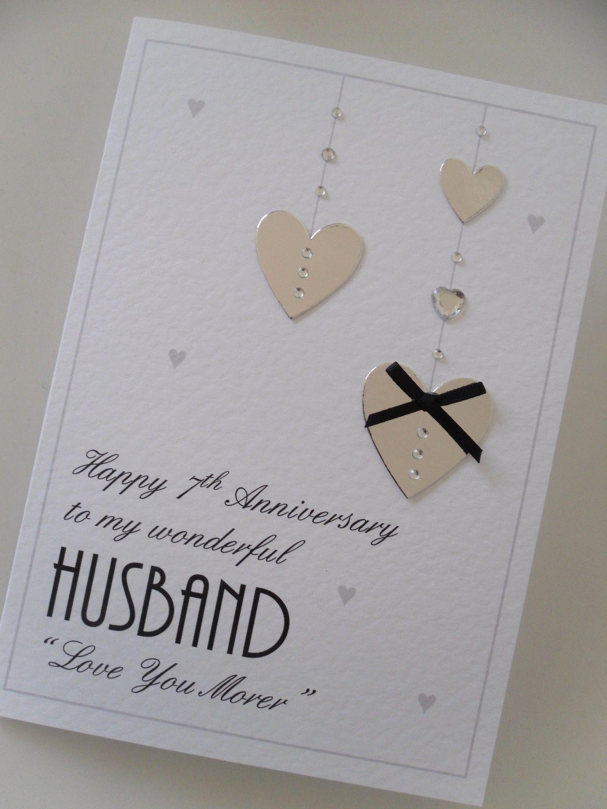 Personalised handmade valentines heart card husbandwife