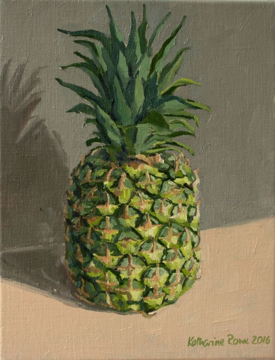 Buy Pineapple, Oil painting by Katharine Rowe on Artfinder. Discover thousands of other original paintings, prints, sculptures and photography from independent artists.