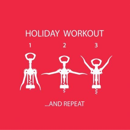 Holiday Workout Cocktail Napkins, Set of 20
