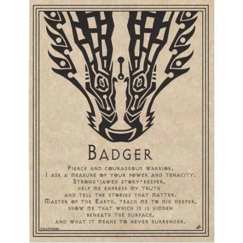 Badger Prayer Poster