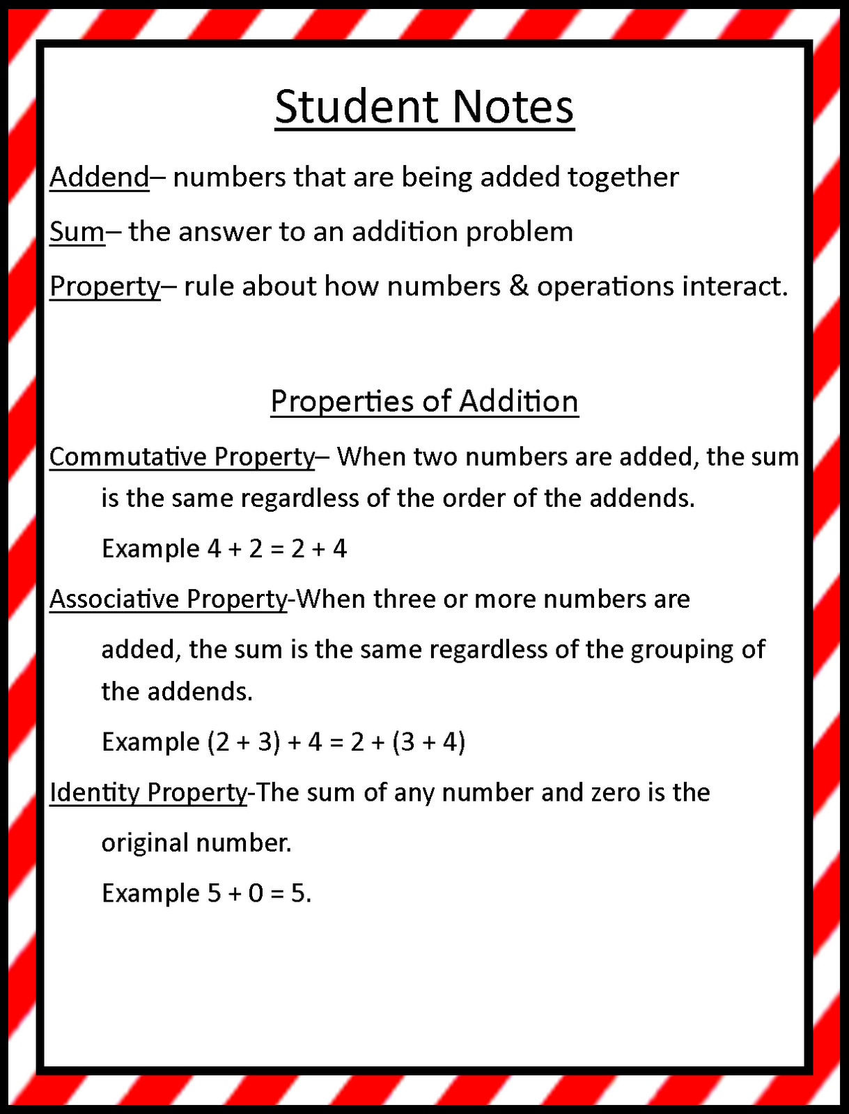 small resolution of Mrs. Hill's Perfect P.I.R.A.T.E.S.   Properties of addition