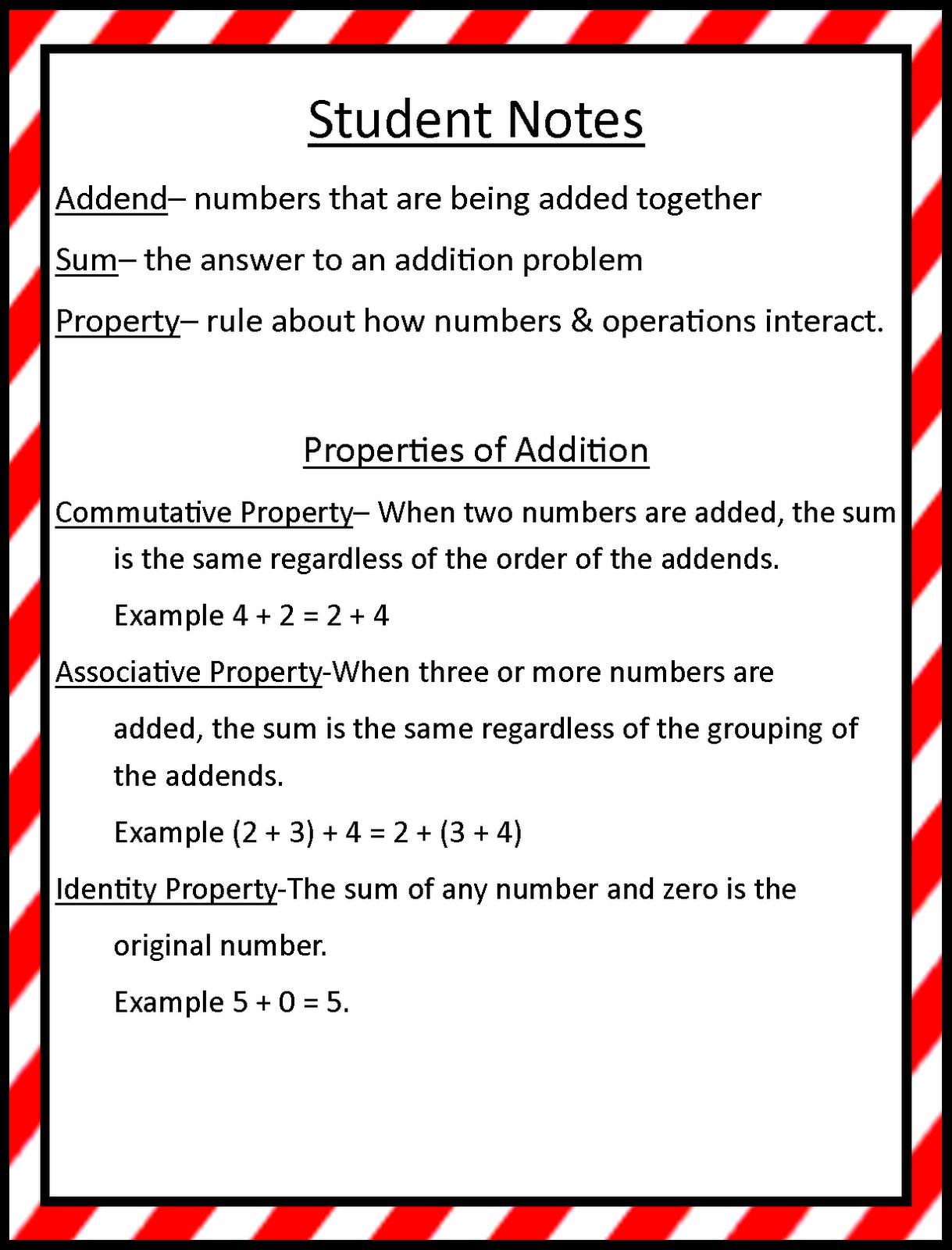 Mrs. Hill's Perfect P.I.R.A.T.E.S.   Properties of addition [ 1600 x 1219 Pixel ]