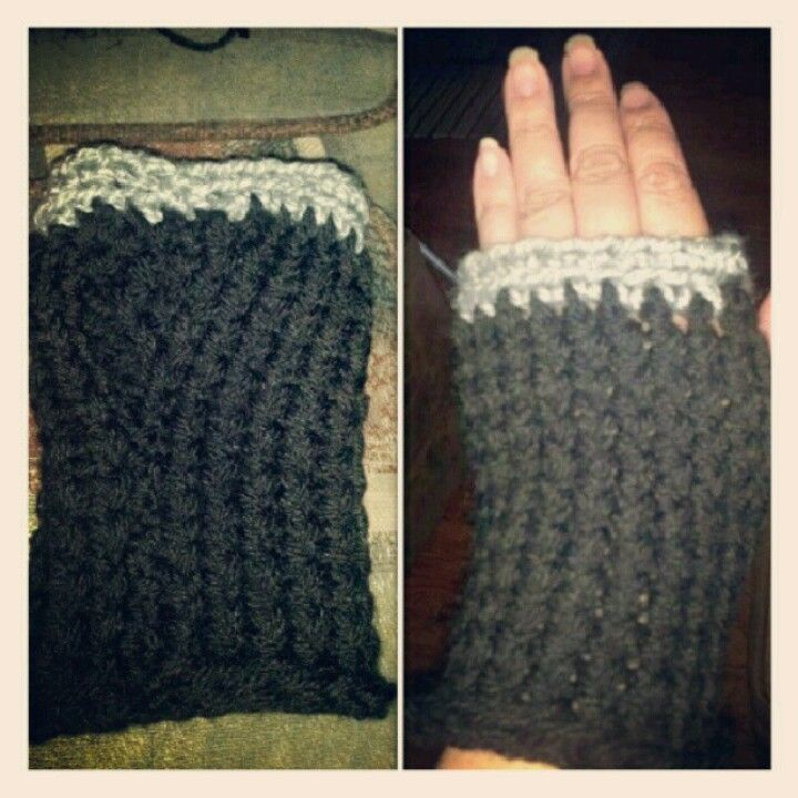 Fingerless gloves (knifty knitter loom )