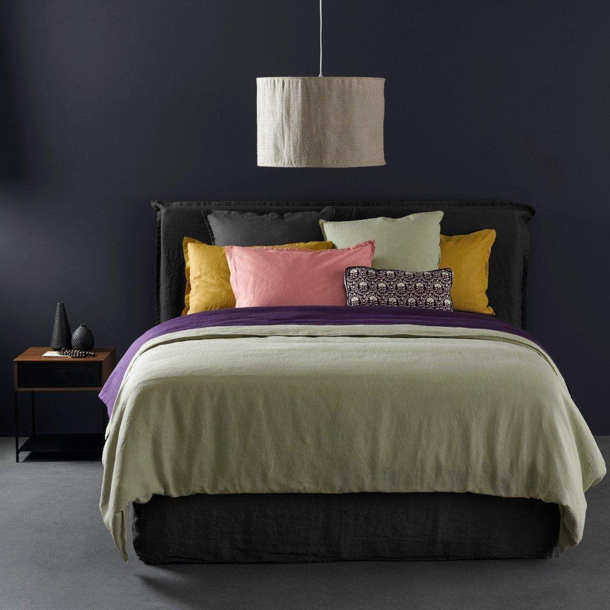 housse de couette elina en lin lav am pm la redoute textiles lin lav d coration. Black Bedroom Furniture Sets. Home Design Ideas