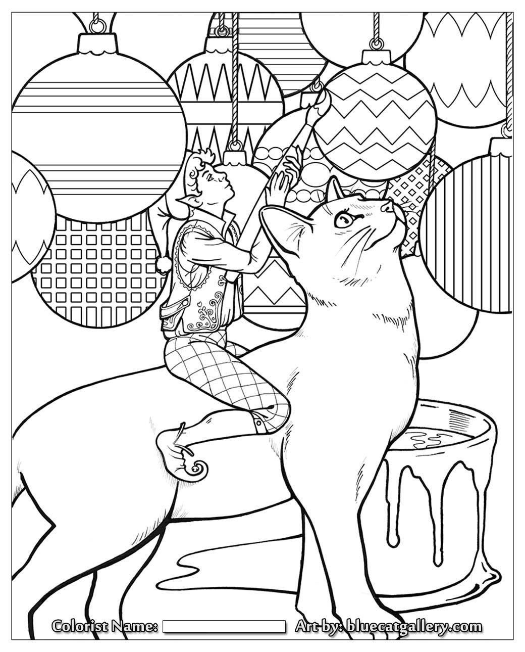 santa3.jpg 1,040×1,290 pixels | Black and white cat pictures ...