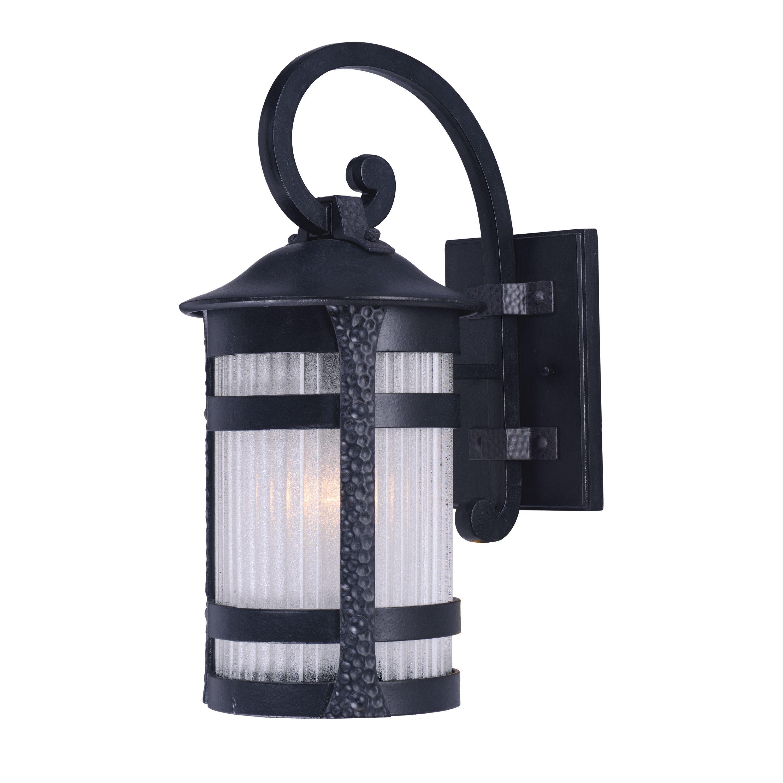 Maxim lighting casa grande eeoutdoor wall mount anthracite black