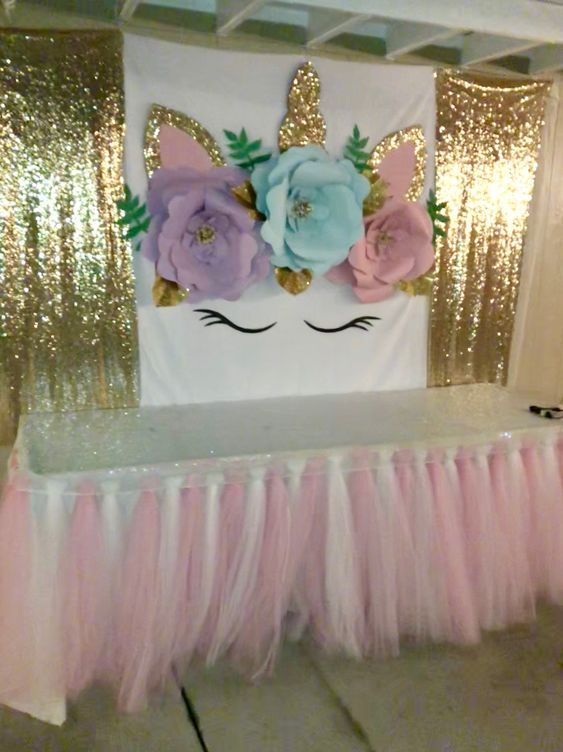 How to Make DIY Birthday Party Decorations for Girls – Unicorn Backdrops