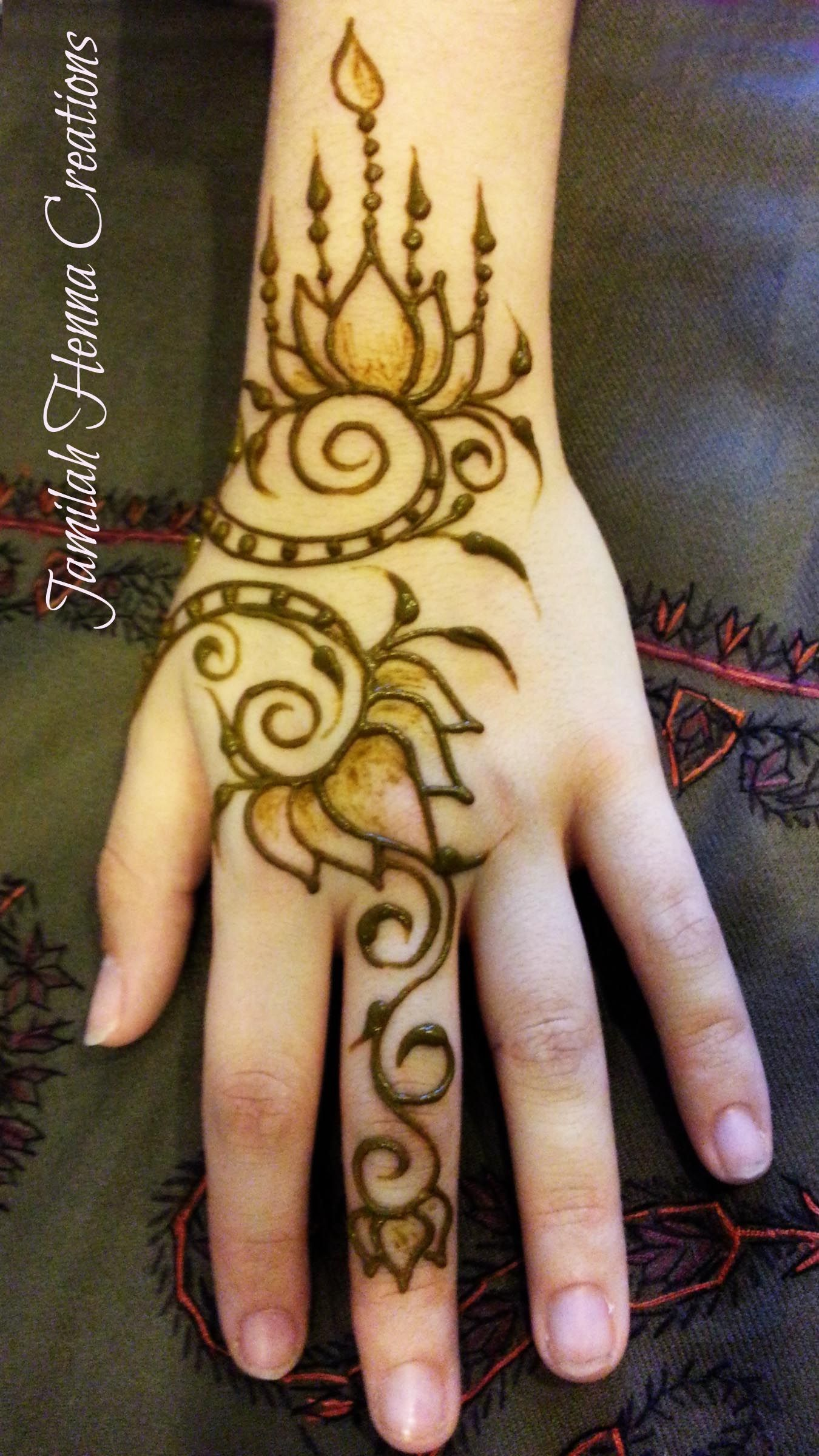 Lotus Flower Henna Tattoo Designs: Lotus Flower Henna Www.jamilahHennaCreations.com