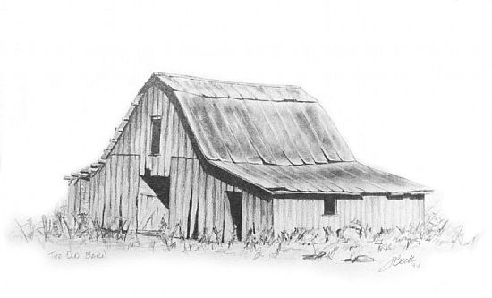 Farm Barn Drawing And Barn Drawing In Pencil The Old Barn ...