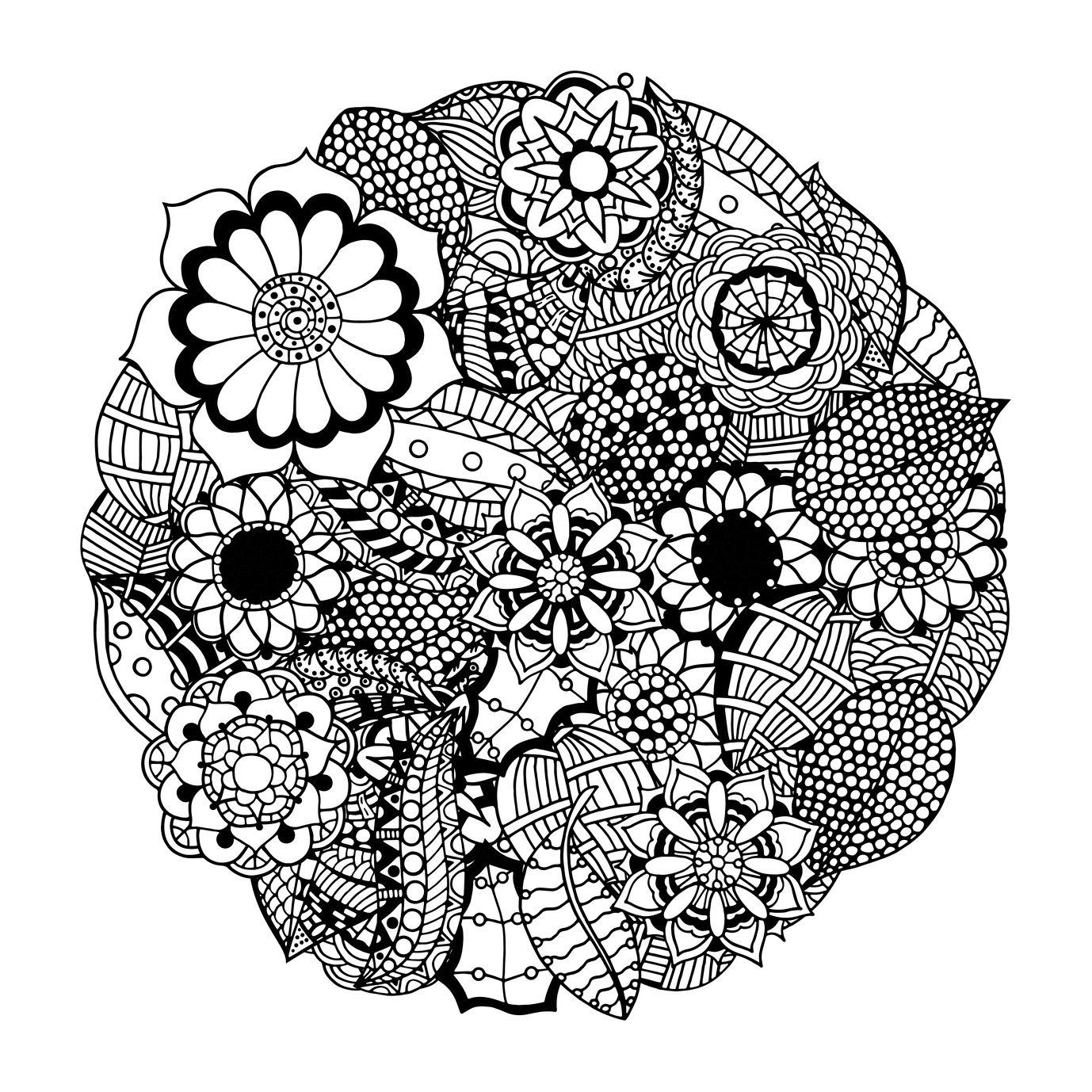 These Printable Abstract Coloring Pages Relieve Stress And ... | free printable mandala coloring pages for adults only