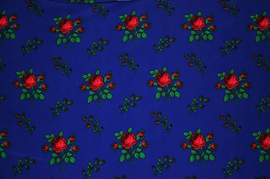Kup Teraz Na Allegro Pl Za 22 50 Zl Tkanina Goralska Wzor Roza Z Lodyga Kolor Szafir 7578091891 Allegro Pl Radosc Z Girly Art Floral Wallpaper Funny Art