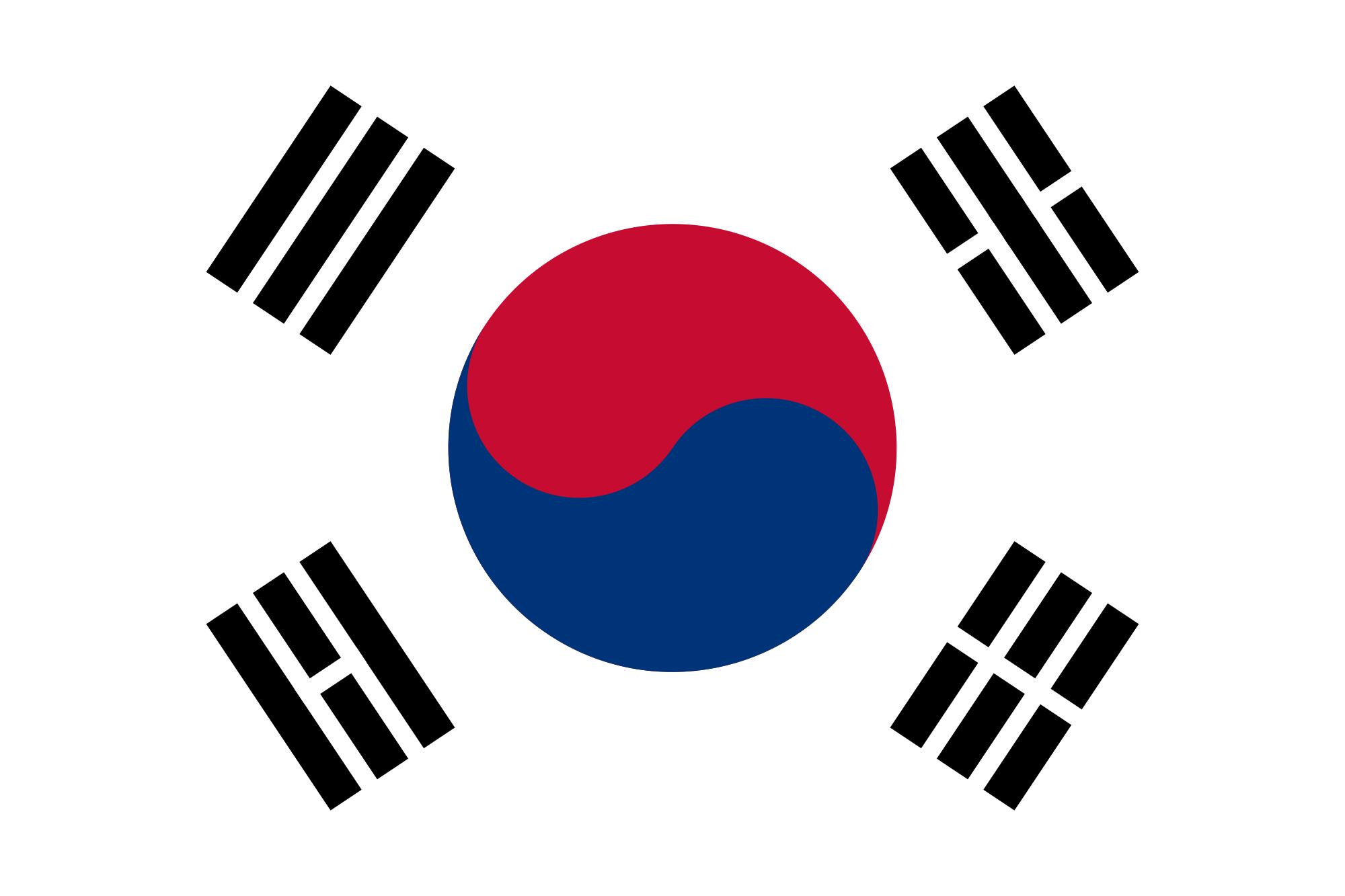 South Korea Country Flag Lambang Negara Korea Selatan Bendera
