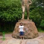 Me with Sir David Livingstone at Victoria Falls National Park