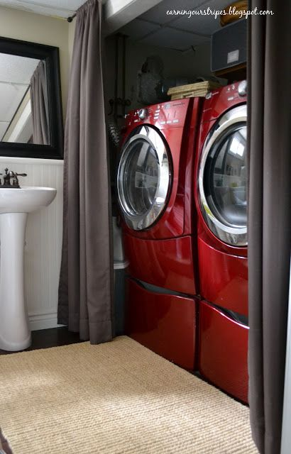 45+ Hide washer and dryer with curtain ideas