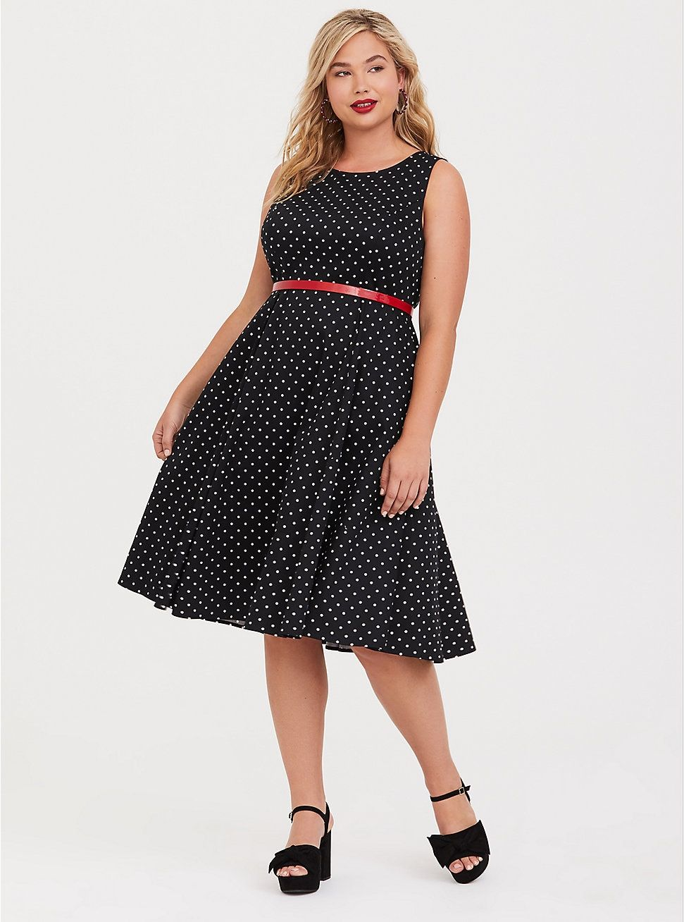 Retro Chic Polka Dot Bow Back Skater Dress in 2019 | Clothes ...