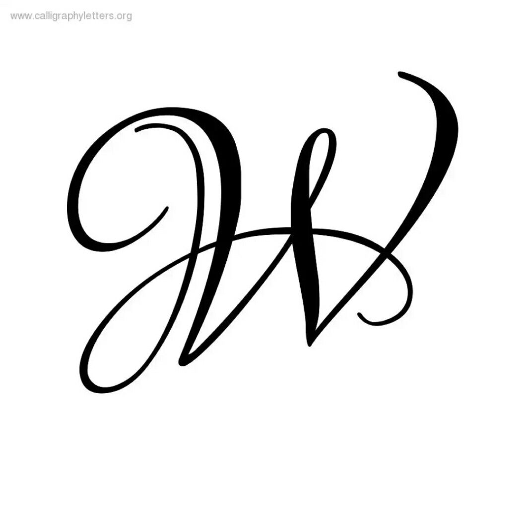 Calligraphy Fonts W W Letter Calligraphy Calligraphy Letters Lettering Styles W